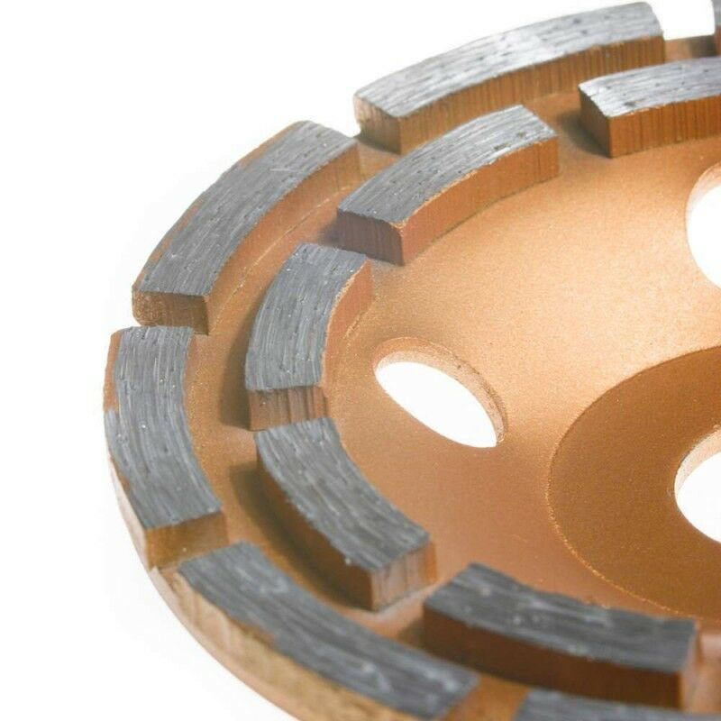 125mm Diamond Grinding Wheels Cup Double Row Grinding Disc Brick Concrete Cut for Angle Grinder