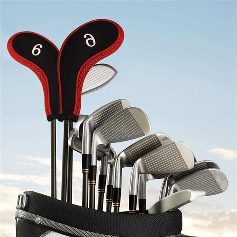 Новинка, 10 шт., набор головок для клюшек для гольфа, Железный набор, чехлы для головных уборов, защита для головы на молнии, аксессуары для клюшек для гольфа, спорта на открытом воздухе