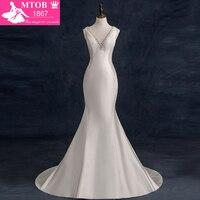 Echt Mermaid Brautkleider 2017 Perlen V-ausschnitt Sexy Brautkleider Vestido De Casamento Nach Maß China Online-Shop W1105C