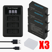 цена на RP 3pcs Batteries for GoPro Hero 5 Gopro 6/7 2018 Camera Battery AHDBT-501+ 3Slots LED USB Battery Charger with Type C Port