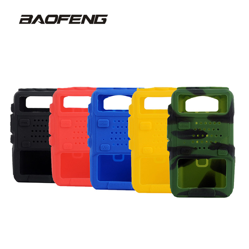 BAOFENG UV-5R Rubber Cover For Walkie Talkie Baofeng UV5R UV-5RA UV-5RB  UV-5RE Silicone Cover For CB Radio