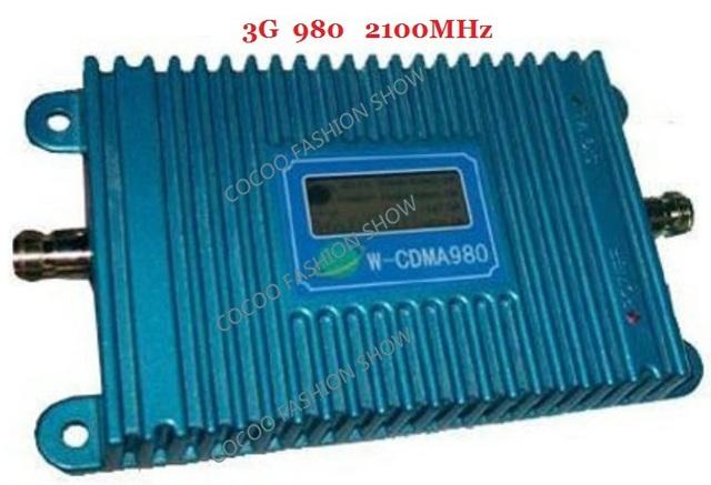 Função display LCD novo modelo modelo 980 3G impulsionador WCDMA 980 2100 Mhz mobile phone signal booster, GSM repetidor de sinal