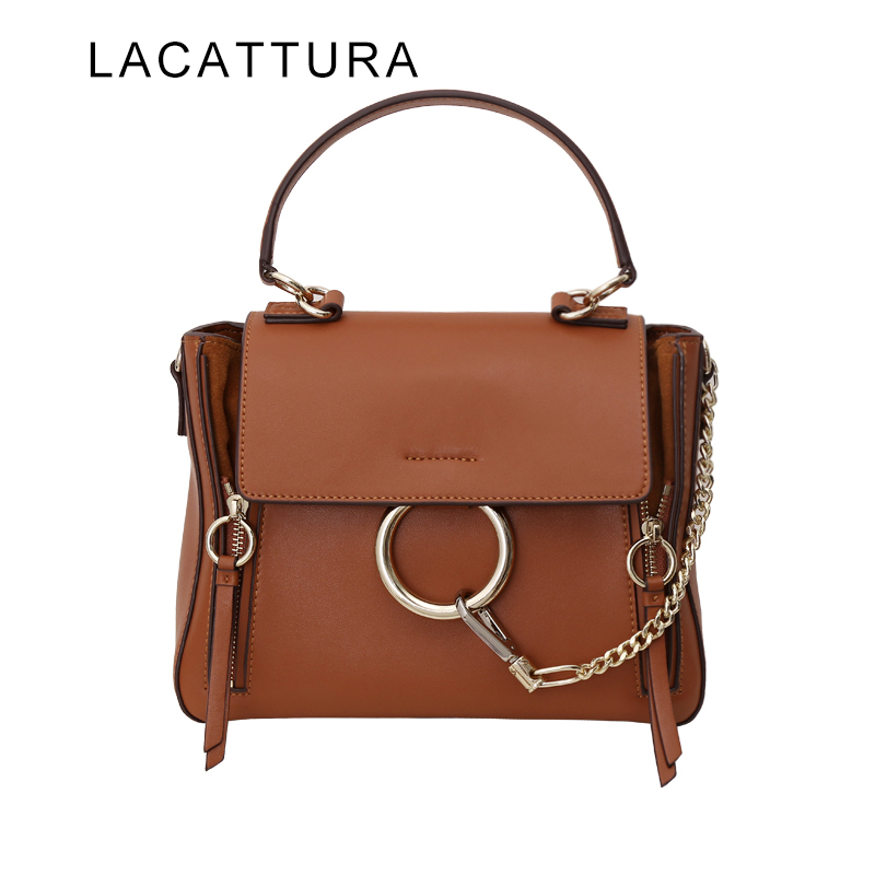 LACATTURA Classic It Bag Fashion Paris Brand Design Handbag for Women Genuine Leather Shoulder Bag Casual Satchels Ring HandbagLACATTURA Classic It Bag Fashion Paris Brand Design Handbag for Women Genuine Leather Shoulder Bag Casual Satchels Ring Handbag