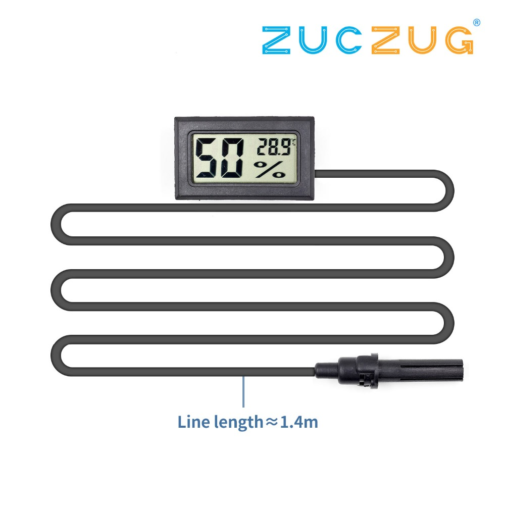 Mini LCD Digital Thermometer Hygrometer Temperature Indoor Convenient Temperature Sensor Humidity Meter Gauge Instruments Cable