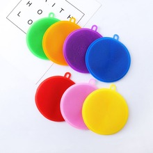 Magic Silicone Cleaning Brushes Dish Bowl Scouring Pad Strong Decontamination Vegetable And Fruit Clean Kitchen