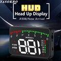 YASOKRO A900 Автомобильный дисплей с головкой OBD2 автомобильный HUD Спидометр лобовое стекло проектор Цифровой измеритель данных для вождения авт...