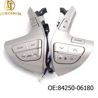 84250 06180 Top quality Steering Wheel Audio Control Button Switch For TOYOTA HILUX /VIGO /COROLLA /CAMRY /HIGHLANDER /INNOVA