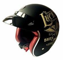 TORC Brand T-50 motorcycle helmet retro Hoory scooter helmet vintage open face helmet Halley half helmet moto 3/4 casco
