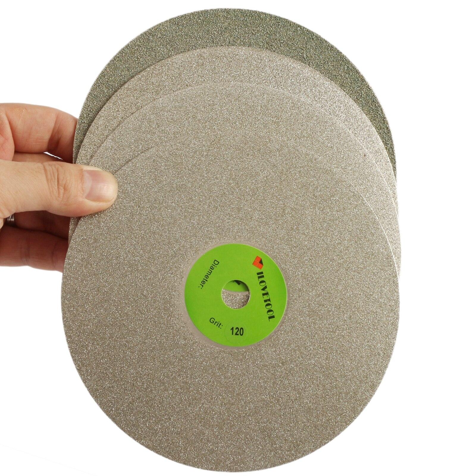 12 inch Diamond coated Flat Lap Disk Grinding Polishing wheel Grit 60 1000 ILOVETOOL