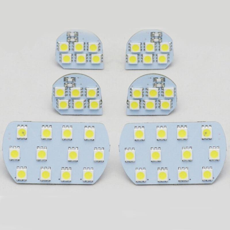 For PEUGEOT 206 308 3008 408 508 for CITROEN C5 Super Bright Led Interior Reading Light Lamp Interior Light 6pcs per set