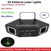 Dj света этапа лазера 25 моделей RGB полный Цвет лазерный проектор огни 550 МВт RGB светодиодный сценический эффект освещения для дискотека Рожде