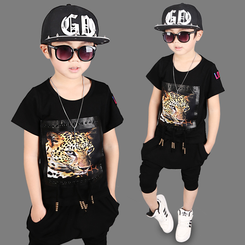 Boys clothing sets summer teenagers school costume Hip-hop tiger pattern T-shirt pants boys sport suit kids clothes tracksuit adjustable new cnc billet short fold folding brake clutch levers for kawasaki z750 z 750 07 12 08 09 10 11 z800 z 800 13 15 2014