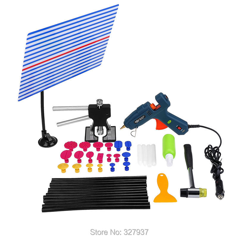 ФОТО PDR Tools Dent Removal Paintless Dent Repair Tools Straightening Dents Stretch Without Painting Dent Puller Kit Ferramentas