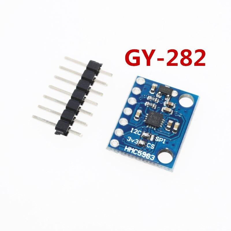 GY-282 HMC5983 Substituir HMC5883L Alta-precisão de Compensação de Temperatura de Alta-sensibilidade Bússola Triaxial IIC SPI Módulo