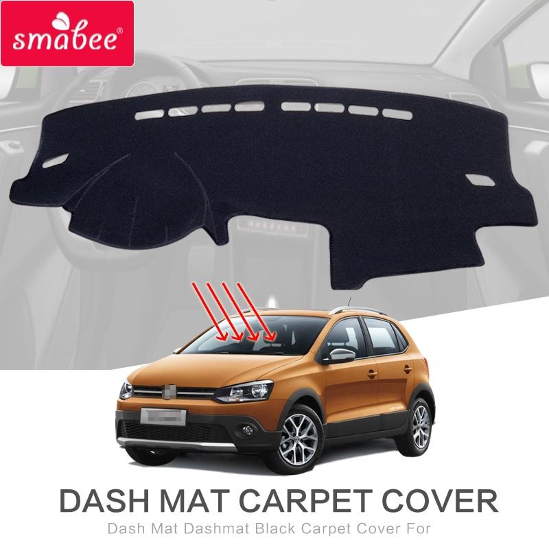 smabee For For Volkswagen POLO GTI POLO R 2011-2016 Dash Mat Dashmat Black Carpet Car Dashboard MAT Sunscreen insulation