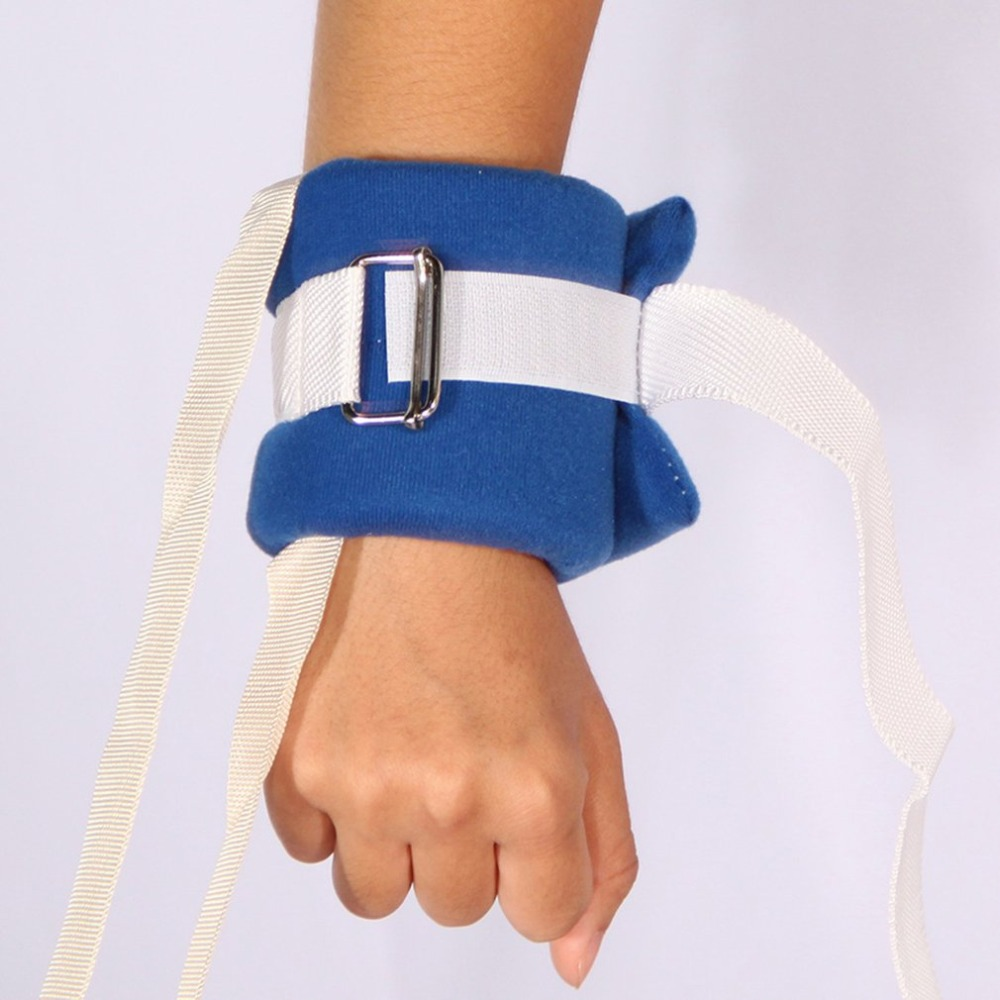 1pair Medical Limbs Restraint Strap Patients Hands Feet Limb Fixed Strap Belt For Elderly Mental Patient Use Blue Toiletry Kits
