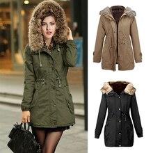 New Women Winter Jacket Women Parka Slim Thick Velvet  Fur Collar Down Coat Casual Outwear Hooded Coat