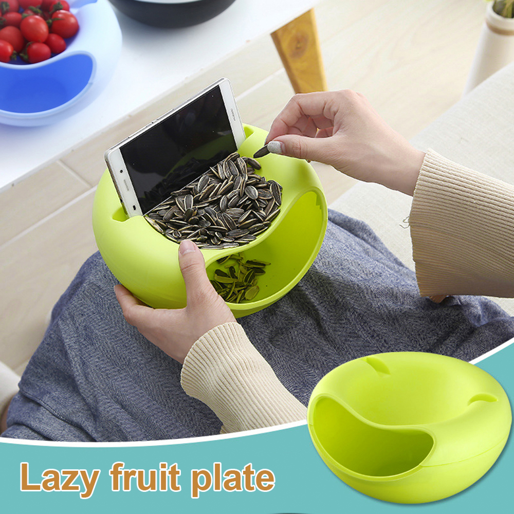 Urijk Plate-Dish Table-Container Dry-Fruit-Organizer Storage-Box Snack Mobile-Phone-Holder