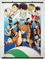 Home Decor Anime Haikyuu Wall Scroll Poster Fabric Painting Key Roles 050