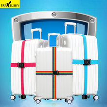 Здесь можно купить   2pcs/set Travelsky New Travel cross straps Strong Nylon Belt size 18 to 34 inches suitcase TSA three layer password lock Strap  Travel Accessories