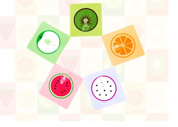 1PC Creative Cartoon Fruit Shape Nail Free Traceless Viscose Door Rear Hook Kitchen Bthroom Wall Storage Shelf ELF 046
