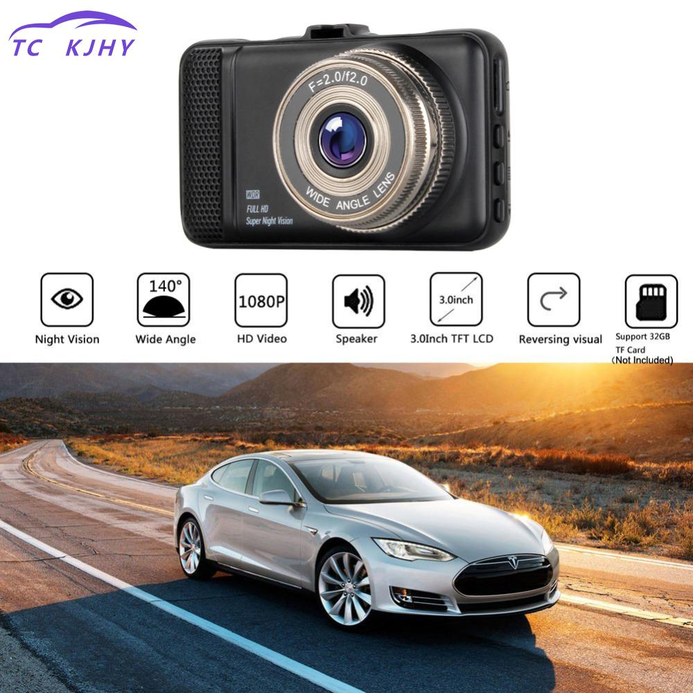 2018 3.0 Inch 1080p Fhd Video Registrator Camcorder Auto Dual Lens Car Dvrs Camera Dash Cam With Rear View Camera Black Box