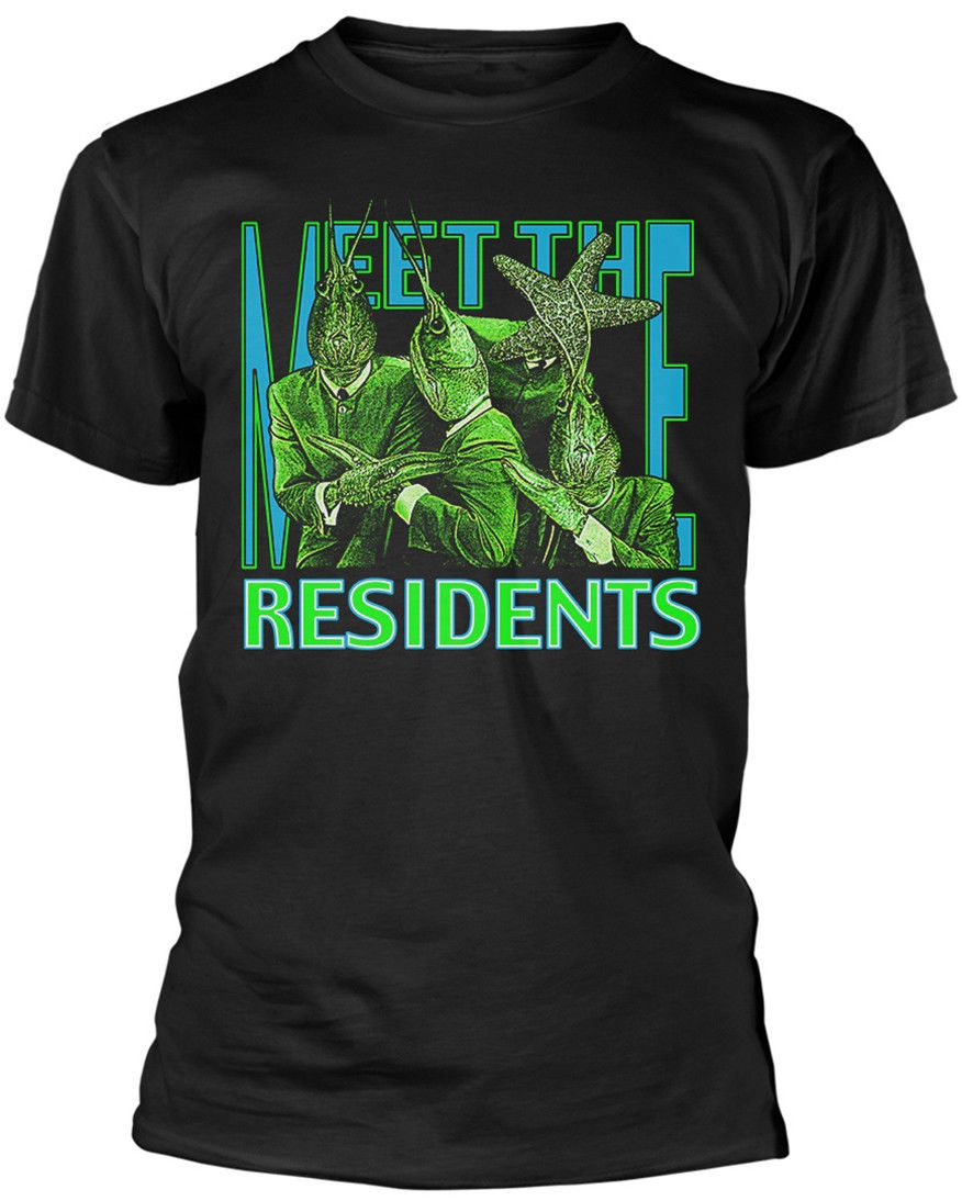 The Residents' Meet The Residents' T-SHIRT - NUOVO E ORIGINALEBrand Men T shirt