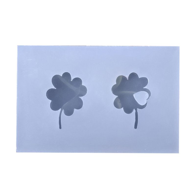 Mini Lucky Four-leaf Clover Shape Silicone Epoxy Resin UV Glue Crafts Mold Creative DIY Art Pendant Brooch Jewelry Tool Accessor