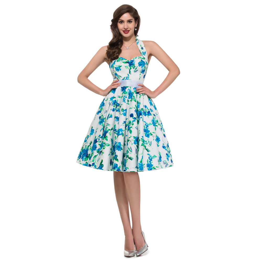 2017 New style Summer 60s robe Vintage Dress Women pin up Clothing ...