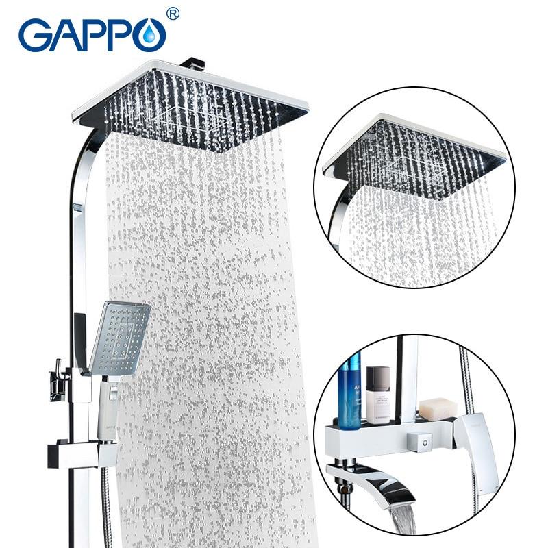 GAPPO bathtub faucet white bath tub faucet shower mixer taps rain shower faucets bath shower head bathroom faucet mixer bath tap все цены