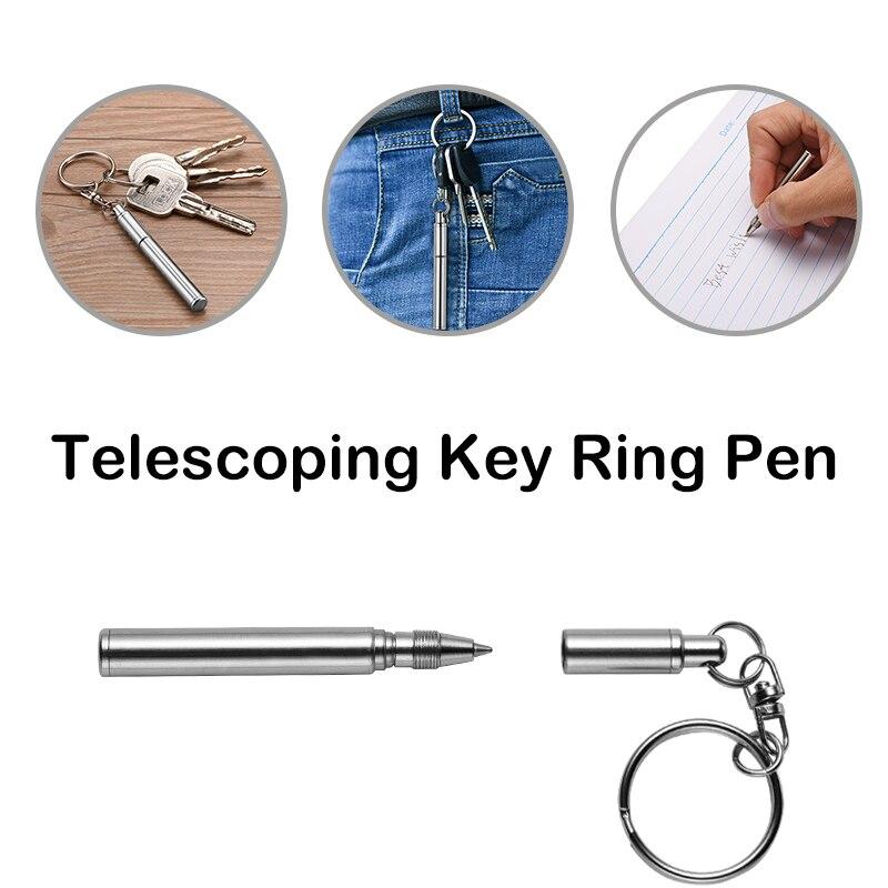 high-quality-portable-metal-telescopic-key-ring-pen-stainless-steel-telescopic-ballpoint-pen-key-chain-pendant
