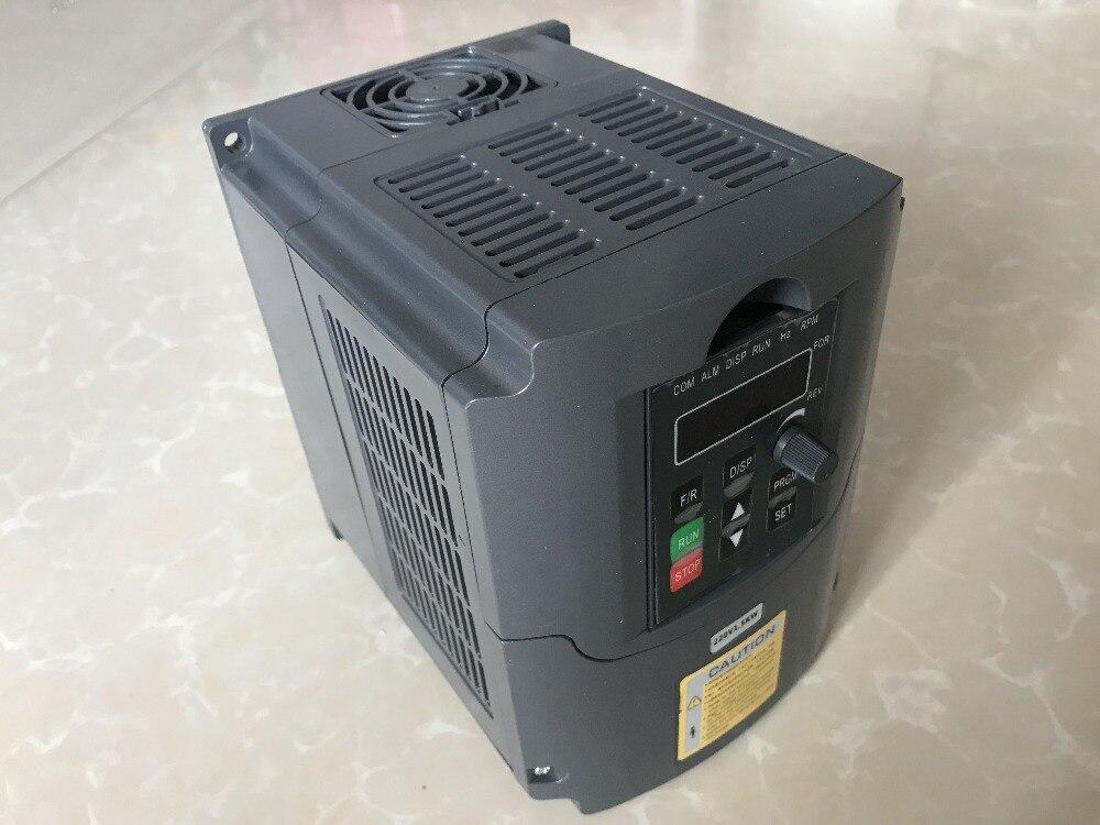 CNC мотор шпинделя управления скоростью 220 В 3kw VFD частотно-регулируемый привод VFD 1HP или 3HP Вход 3HP преобразователь частоты для двигателя