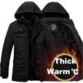 Homens Jaqueta de inverno Jaquetas de Algodão Casuais Espessamento roupas À Prova D' Água À Prova de Vento Respirável mens Casaco 2016 Nova Marca parka