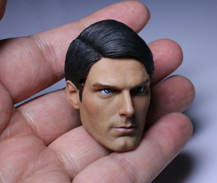 ФОТО 1/6 Male Superman Head Sculpts & Brown Glasses Model Toys 1978 Version For 12