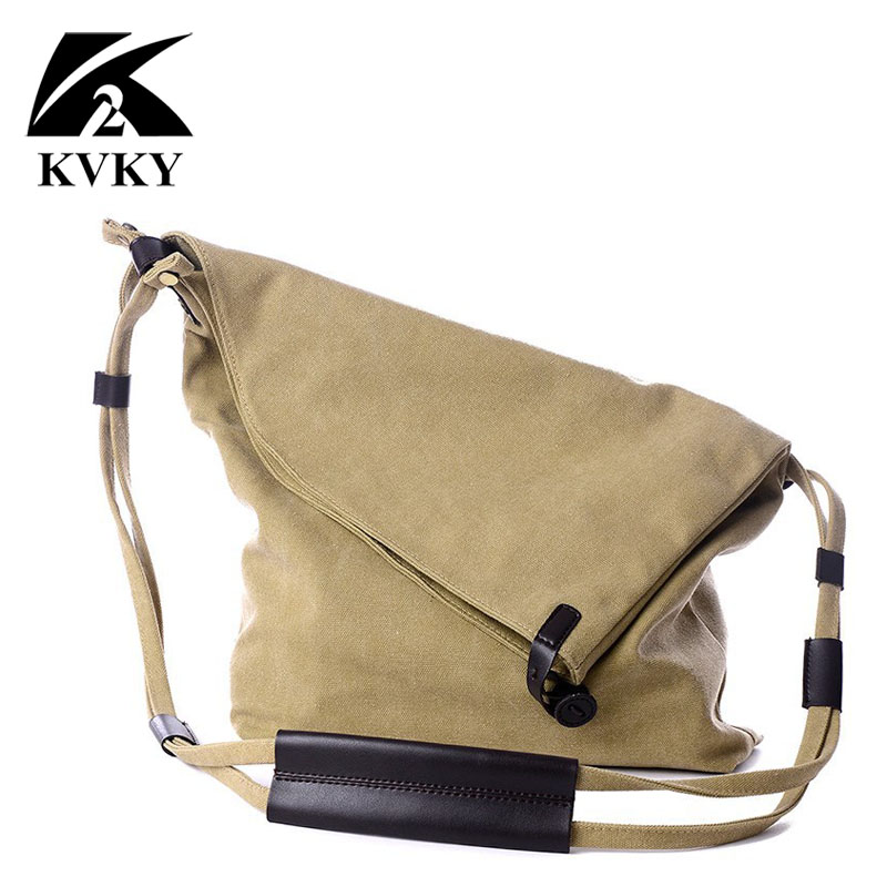 KVKY 2017 New Fashion Women Bags Handbag Brands Vintage Canvas Shoulder Bags Messenger Crossbody Bags Satchel Travel Casual Tote casual canvas satchel men sling bag