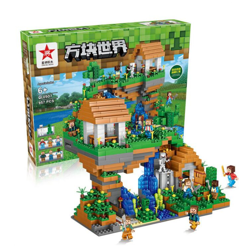 Toys & Hobbies 287pcs 3in1 Model Building Kits Compatible Legoings Minecraft Withered Wizard Childrens Educational Building Blocks Toy Gifts