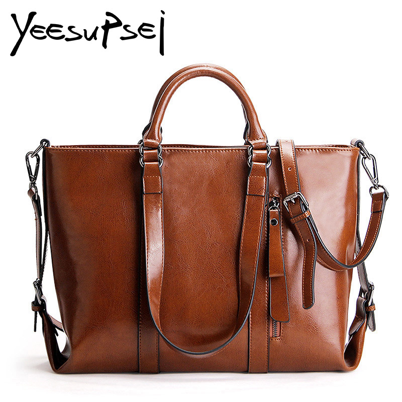 YeeSupSei Women Genuine Leather Bag Handbag Women Famous Brands Big Casual Women Bags Tote Shoulder Bag Lady Large Bolsos Mujer emini house tote bag genuine leather women messenger bags shoulder bag handbag women famous brands crossbody bags for lady