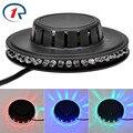 ZjRight Micro Rotating RGB Light 48 LEDs Sunflower LED Stage Light for disco ballroom KTV bar stage club party light 110V/220V