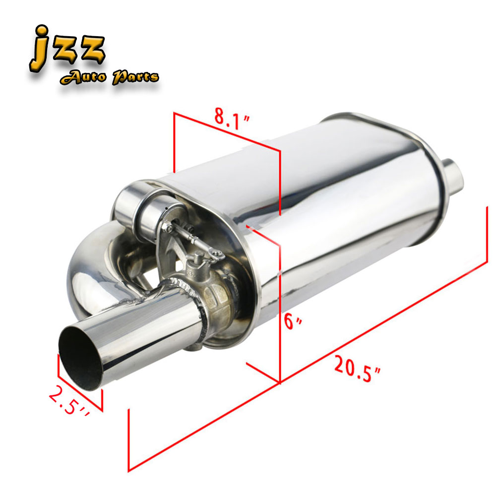 JZZ 2.5  3 Change Sound Racing Valve Silencer Oval Car Exhaust Muffler With Electronic Remote Control Sounb Bomb NozzleJZZ 2.5  3 Change Sound Racing Valve Silencer Oval Car Exhaust Muffler With Electronic Remote Control Sounb Bomb Nozzle