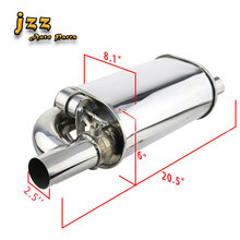 JZZ 2.5  3'' Change Sound Racing Valve Silencer Oval Car Exhaust Muffler With Electronic Remote Control Sounb Bomb Nozzle rastp exhaust control valve set with vacuum actuator cutout 3 0 76mm pipe close style with wireless remote controller rs bov041