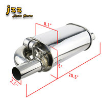 JZZ 2.5 3'' Change Sound Racing Valve Silencer Oval Car Exhaust Muffler With Electronic Remote Control Sounb Bomb Nozzle