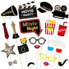 Фотобудка PropsTinksky 21 шт усы фильм Комплект красивый праздничный для мероприятий на открытом воздухе торжества