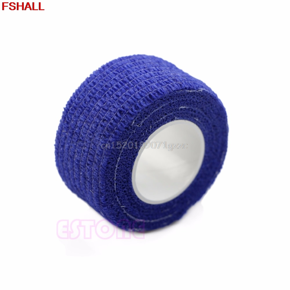 10 Rolls Blue Manicure Protective Flex Wrap Finger Bandage Tape File Nail Art #H027#