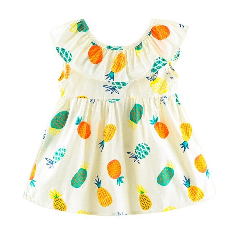 a22b9f4641e Υψηλής ποιότητας παιδικό φόρεμα ανανά τυπωμένη κορδέλα πίσω από τα ...