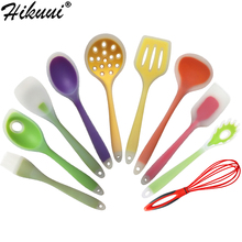 1 PC Silicone Cooking Utensils Spoon Spatula Soup Ladle Heat