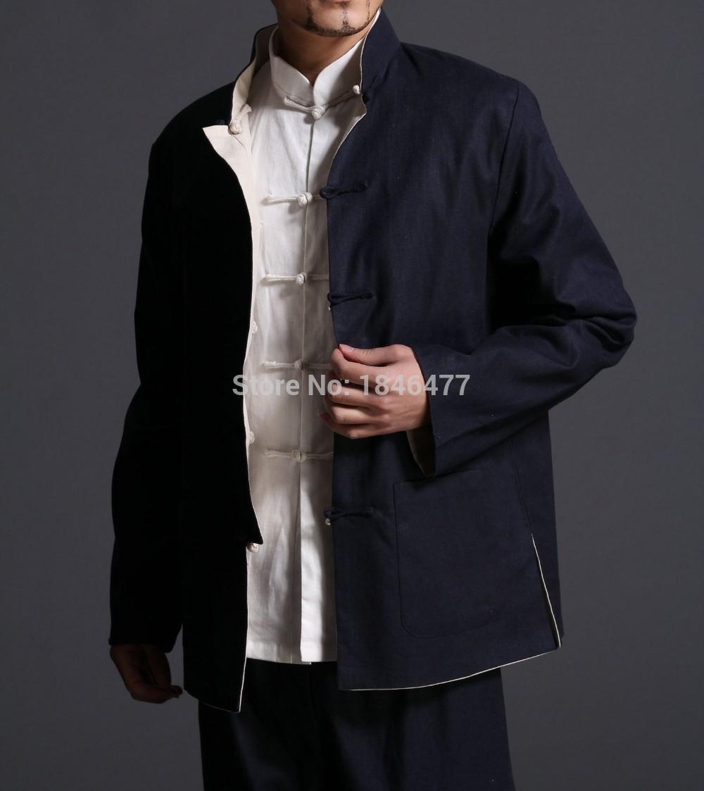 все цены на Reversible kung fu jacket Bruce lee wing chun clothing Martial arts wushu uniforms traditional chinese clothing Tang suits coat онлайн
