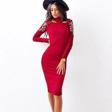 bc4bce39fbda0 2017 الخريف أزياء المرأة ضيق اللباس عارضة س الرقبة طويلة الأكمام يزين  فساتين مثير Bodycon ضمادة