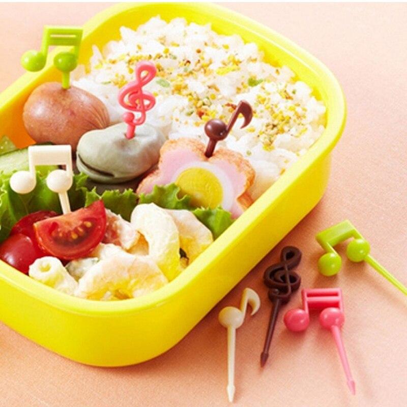 16 pz/pacco Usa E Getta di Plastica Nota Musicale/Cuore/Poker Forma di Cibo Frutta Forchetta Picks Set Per Il Partito Cucina Accessorie