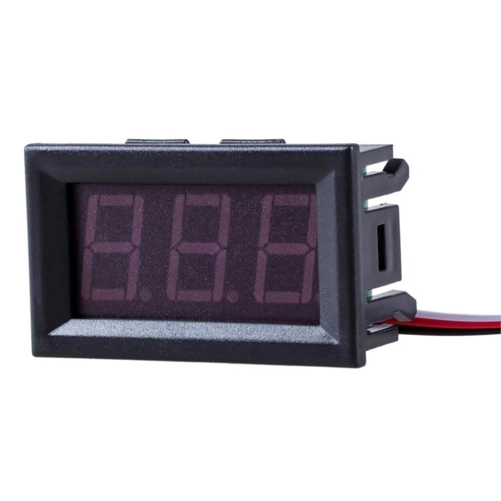 Цифровой тестер напряжения, 1 шт., Мини вольтметр для самостоятельного тестирования, батарея постоянного тока 0-30 в 0-100 В, 3 провода, красный, з...