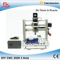 Free Taxes To Russia Ukraine DIY Mini CNC Engraving Machine CNC 2520 Wood Cutting Machine With